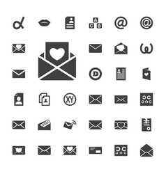 33 letter icons vector