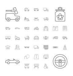 37 car icons vector