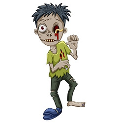 A zombie with a worm in the eye vector