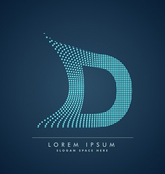 Abstract creative dots logo letter D vector