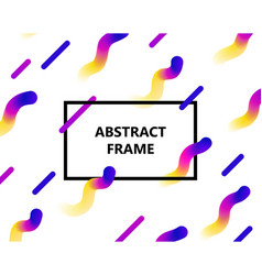 Abstract frame gradient copy vector