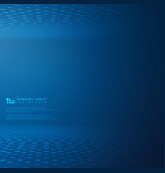 abstract futuristic technology gradient blue dot vector image