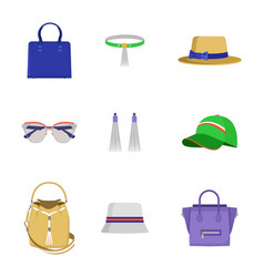 accessories collection poster vector image