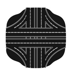Autobahn single icon in black styleautobahn vector