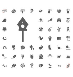 birdhouse icon spring icon vector image
