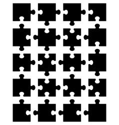 Black puzzle 5 vector