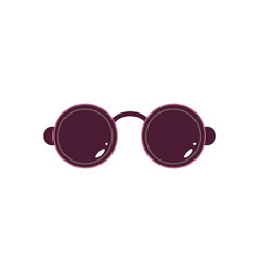 Black rounded sunglasses vector