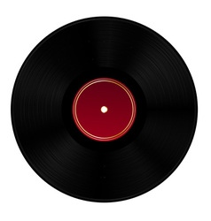 Black vinyl disc vector image