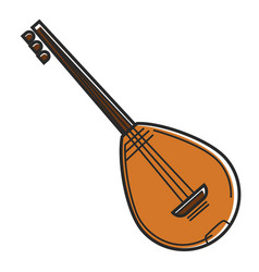 bouzouki cyprus national musical instrument vector image