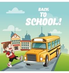 Bus boy back to school design vector