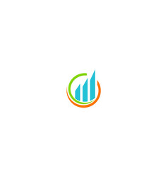 business finance profit logo vector image