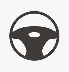 car steering wheel icon vector image