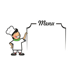 Chef with Menu Area vector image
