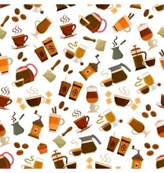Coffee cafe seamless pattern vector image