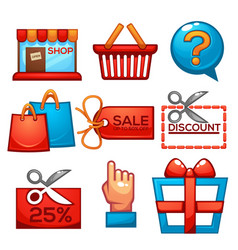 collection of shopping and sale icons for your vector image