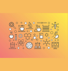 Colorful chemistry lab vector
