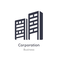 Corporation outline icon isolated line from vector