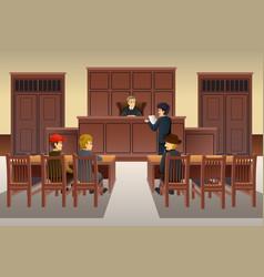 court scene vector image