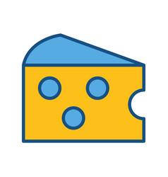 Delicious cheese food icon vector