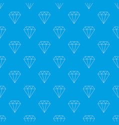 diamond pattern seamless blue vector image