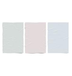 empty badly glued paper texturepastel colors wet vector image
