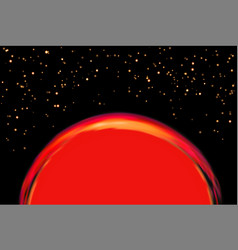 Exoplanet or extrasolar planet vector