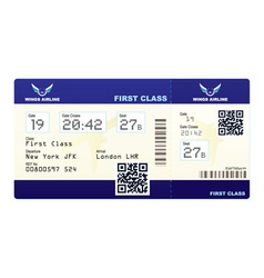 Fake plane ticket vector