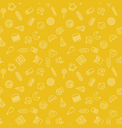 fast food yellow pattern - seamless texture vector image