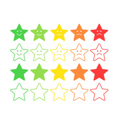 Feedback concept star rank level satisfaction vector