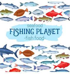 Fish page design vector