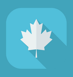 Flat modern design with shadow icons maple leaf vector