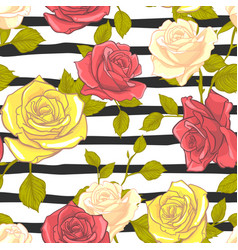 flower rose seamless pattern floral rose seamless vector image
