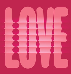 Folded Love Word vector image