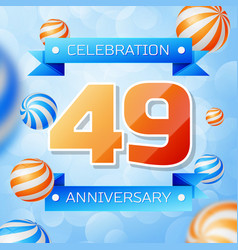 Forty nine years anniversary celebration design vector