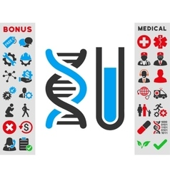 Genetic Analysis Icon vector image
