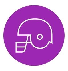 Hockey helmet line icon vector image