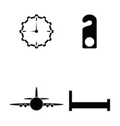 hotel icon set vector image vector image