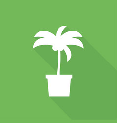 icon palm trees with a long shadow vector image