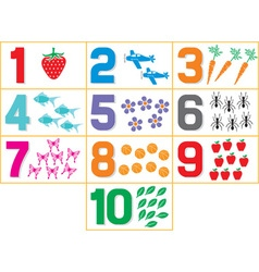 Learning Numbers vector image