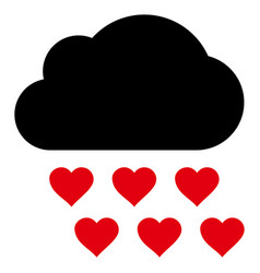 love rain cloud icon vector image