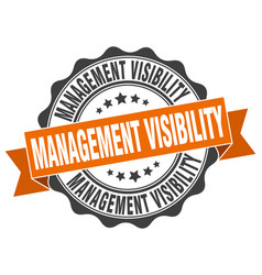 Management visibility stamp sign seal vector
