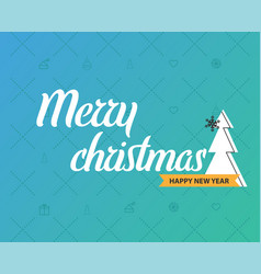 merry christmas and new year greeting card design vector image