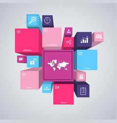 modern pink colorful infographic vector image