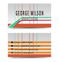 Modern simple light business card vector