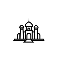 mosque icon logo design inspiration vector image