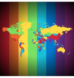 Multicolored World map vector image