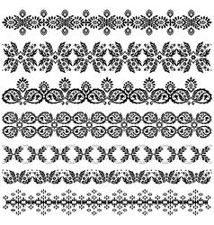 ottoman serial patterns three vector image vector image