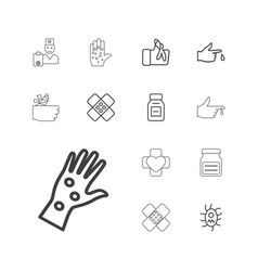Pain icons vector