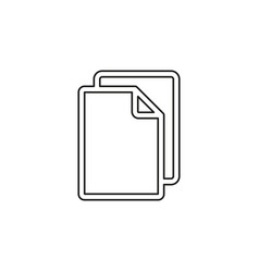 paper icon vector image