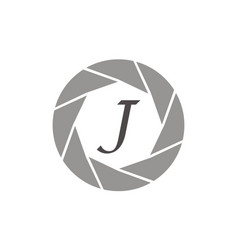 Photography service letter j vector